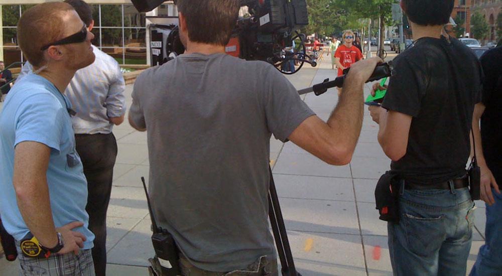 camera crew walkies